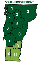 Southern Vermont Map